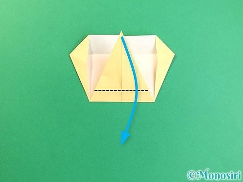 折り紙でいちょうの折り方手順16