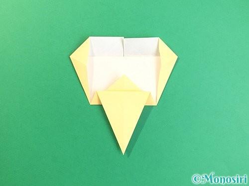 折り紙でいちょうの折り方手順17