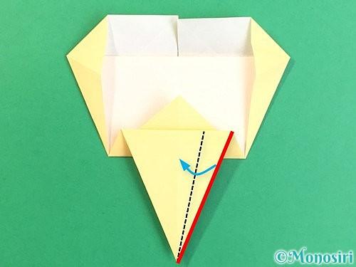 折り紙でいちょうの折り方手順18