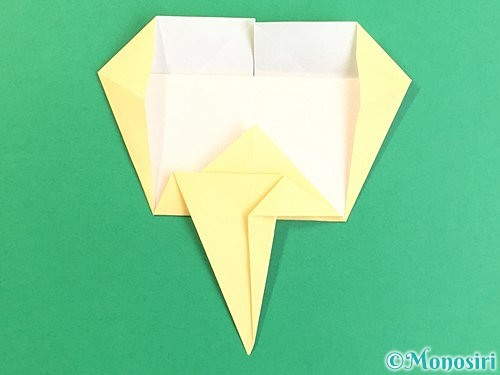 折り紙でいちょうの折り方手順21