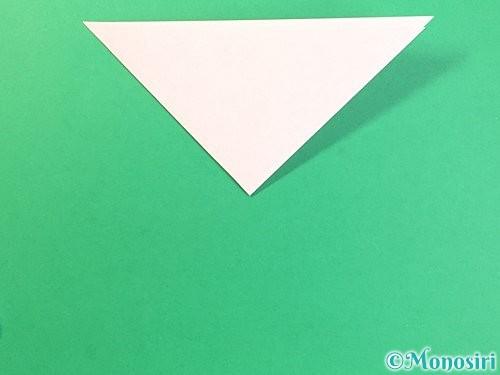 折り紙でコスモスの切り方手順4