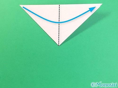 折り紙でコスモスの切り方手順5