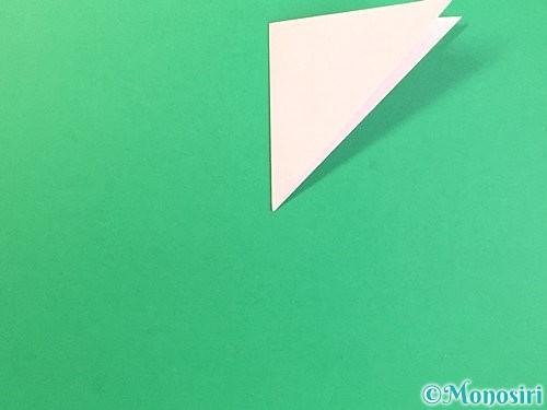 折り紙でコスモスの切り方手順6
