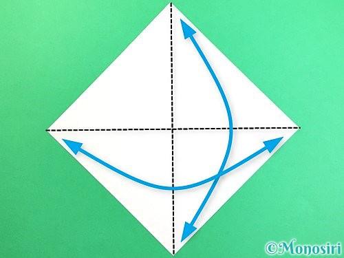 折り紙で立体的なコスモスの折り方手順1