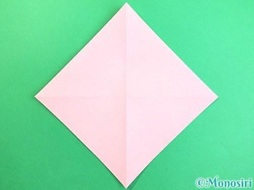 折り紙で立体的なコスモスの折り方手順3