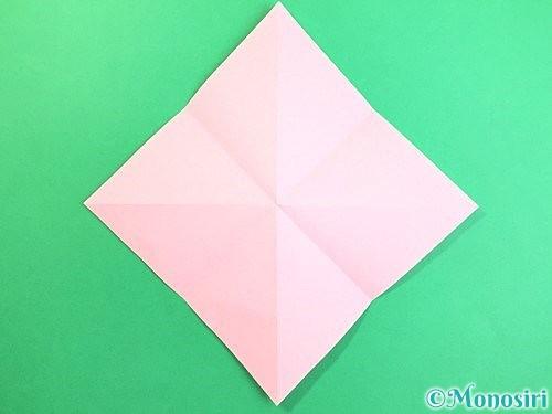 折り紙で立体的なコスモスの折り方手順5