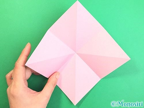 折り紙で立体的なコスモスの折り方手順6
