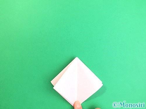 折り紙で立体的なコスモスの折り方手順8