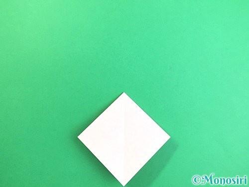 折り紙で立体的なコスモスの折り方手順9