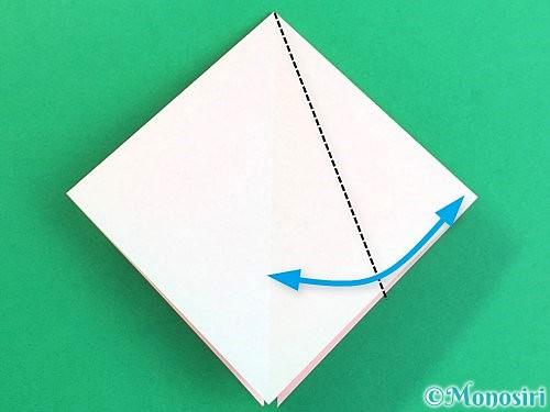 折り紙で立体的なコスモスの折り方手順10