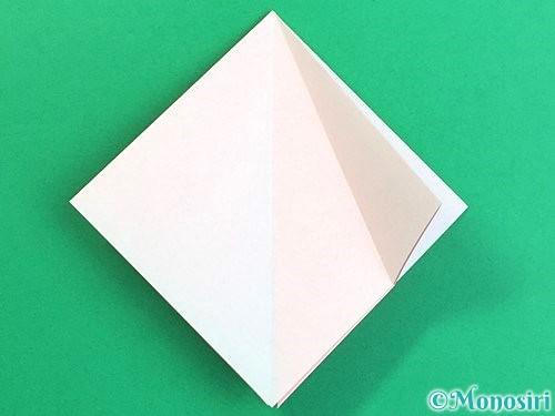 折り紙で立体的なコスモスの折り方手順11