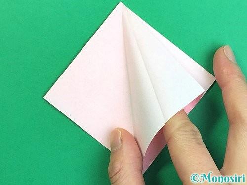 折り紙で立体的なコスモスの折り方手順12