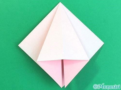折り紙で立体的なコスモスの折り方手順14