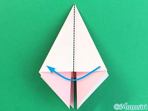 折り紙で立体的なコスモスの折り方手順16