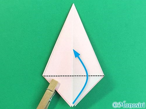 折り紙で立体的なコスモスの折り方手順18