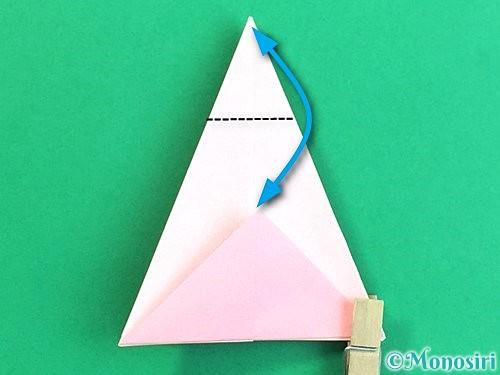 折り紙で立体的なコスモスの折り方手順21