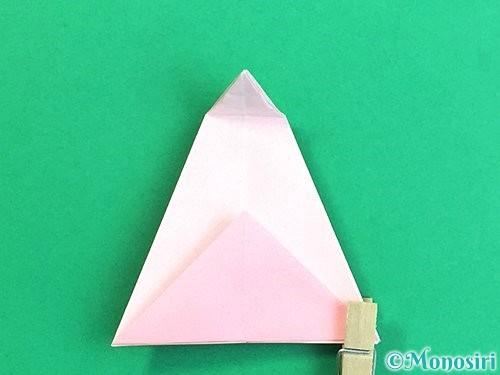 折り紙で立体的なコスモスの折り方手順22
