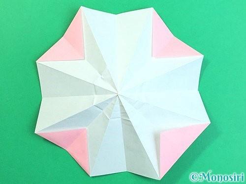 折り紙で立体的なコスモスの折り方手順23