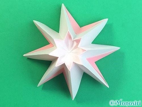 折り紙で立体的なコスモスの折り方手順27