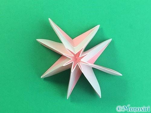 折り紙で立体的なコスモスの折り方手順28