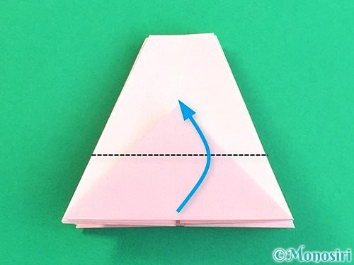 折り紙で立体的なコスモスの折り方手順31