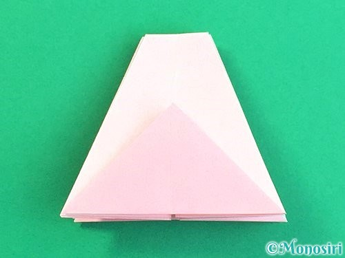 折り紙で立体的なコスモスの折り方手順30