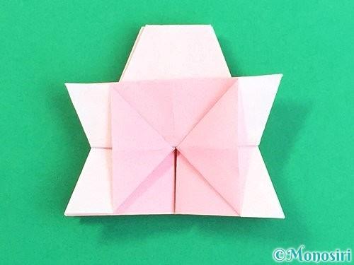 折り紙で立体的なコスモスの折り方手順36