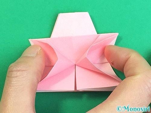 折り紙で立体的なコスモスの折り方手順38
