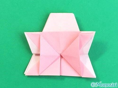折り紙で立体的なコスモスの折り方手順39