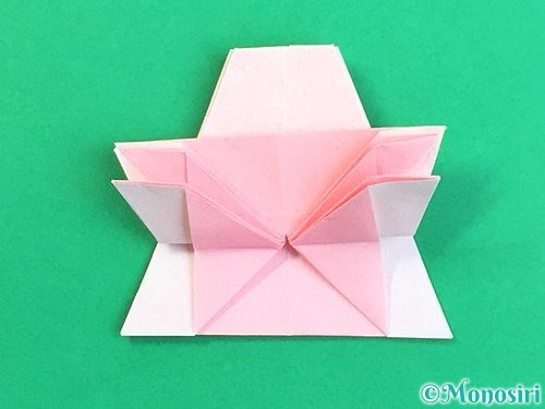 折り紙で立体的なコスモスの折り方手順40