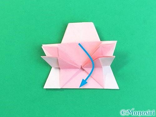 折り紙で立体的なコスモスの折り方手順41
