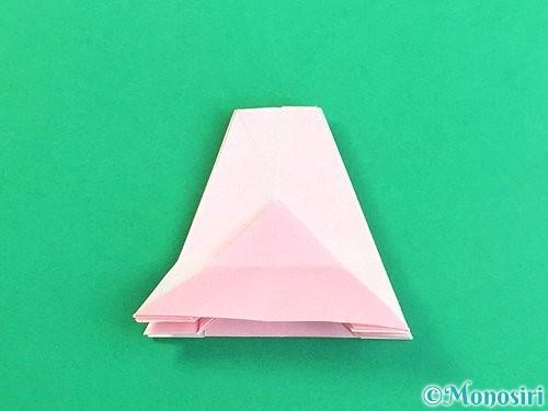 折り紙で立体的なコスモスの折り方手順42