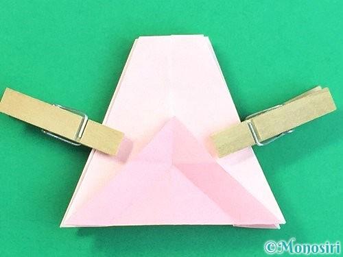 折り紙で立体的なコスモスの折り方手順49