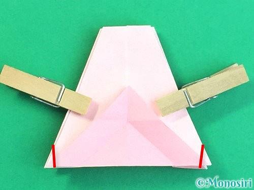 折り紙で立体的なコスモスの折り方手順50