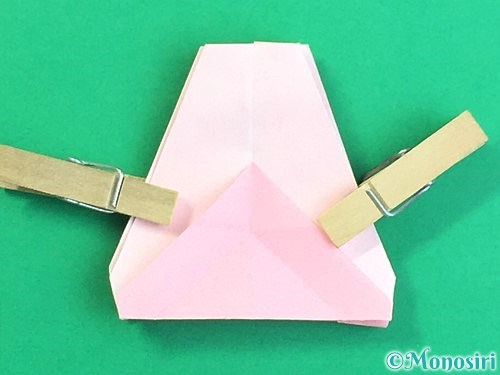 折り紙で立体的なコスモスの折り方手順51