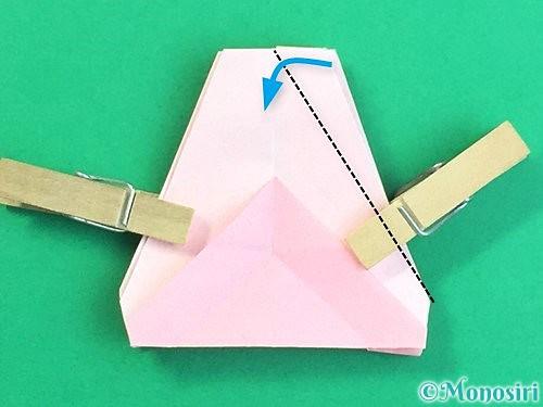 折り紙で立体的なコスモスの折り方手順52