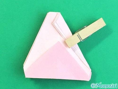 折り紙で立体的なコスモスの折り方手順53