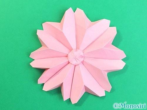 折り紙で立体的なコスモスの折り方手順63