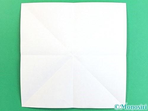 折り紙でコスモスの折り方手順4