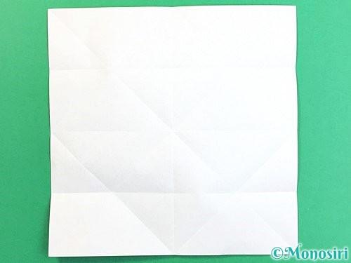 折り紙でコスモスの折り方手順8