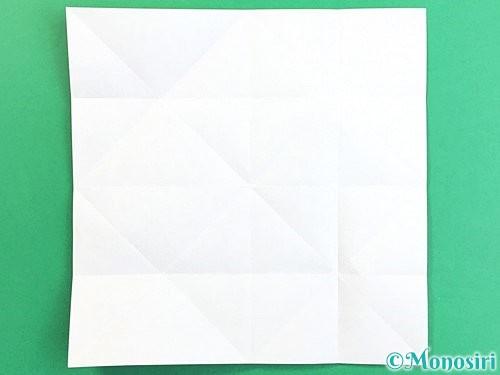 折り紙でコスモスの折り方手順10