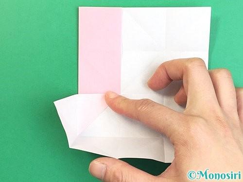 折り紙でコスモスの折り方手順15