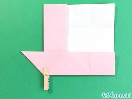 折り紙でコスモスの折り方手順16
