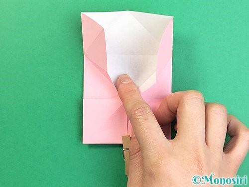折り紙でコスモスの折り方手順28