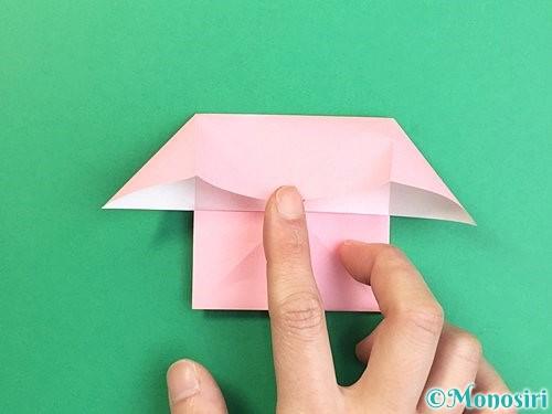 折り紙でコスモスの折り方手順30