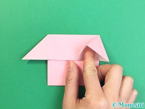折り紙でコスモスの折り方手順32