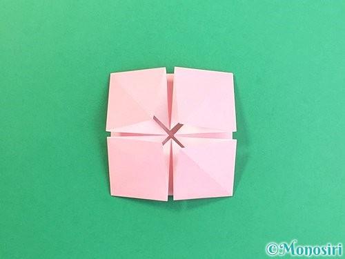 折り紙でコスモスの折り方手順34