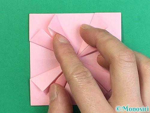 折り紙でコスモスの折り方手順37