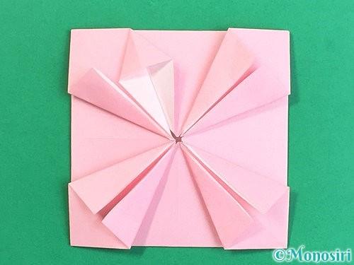 折り紙でコスモスの折り方手順39
