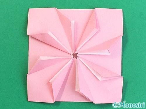 折り紙でコスモスの折り方手順42